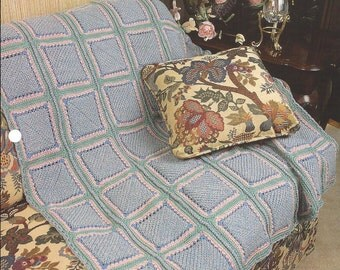 Double-Sided Block Afghan Pattern  - Annie's Crochet Quilt & Afghan - Crochet Quilt, Blanket, Bedspread, Home Decor, Bedding, Couch Throw