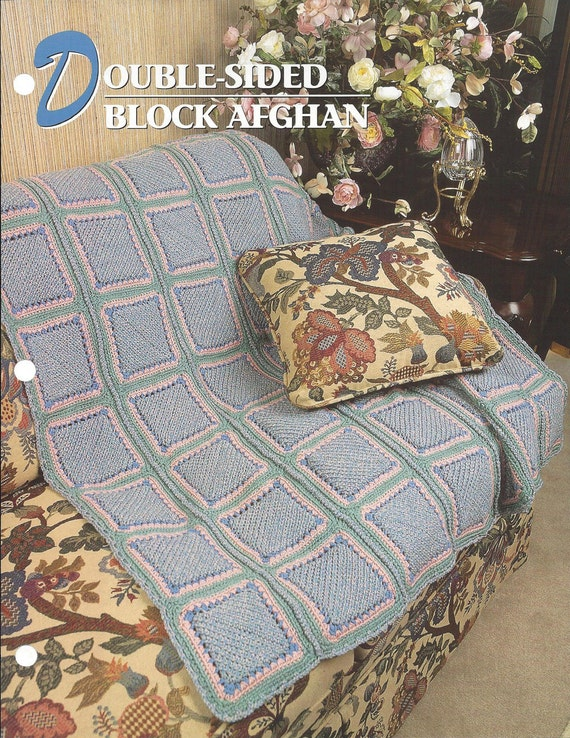 Double Sided Block Afghan Pattern Annie S Crochet Quilt