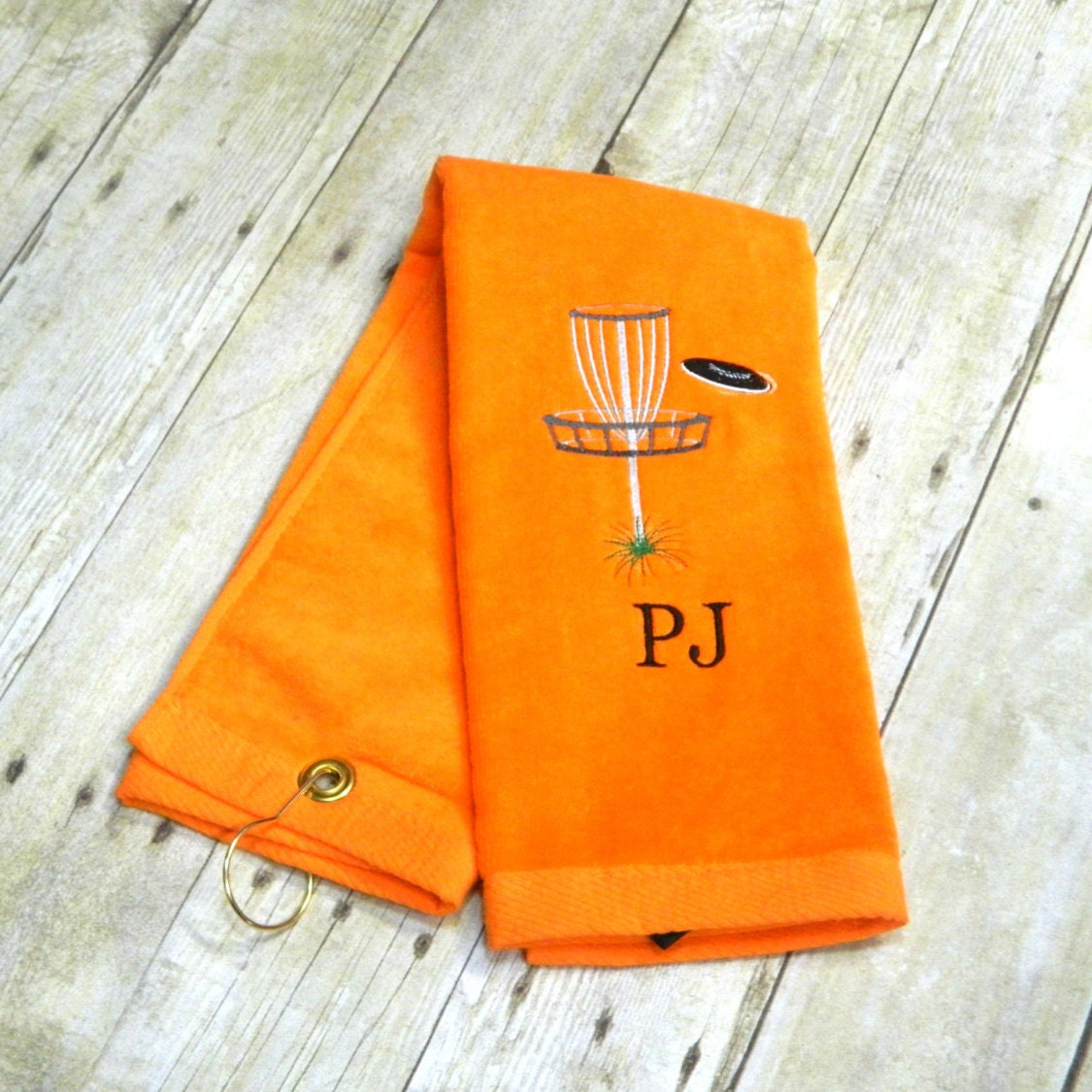 Disc Golf Towel Personalized Disc Golf Towel Embroidered
