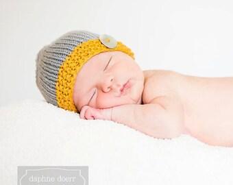Newborn Photo Prop, Newborn Grey Beanie, Newborn Boy Baby Hat Newborn Girl Baby Hat,Gender Neutral Baby Hat,Grey Baby Hat ,Knit Baby Beanie