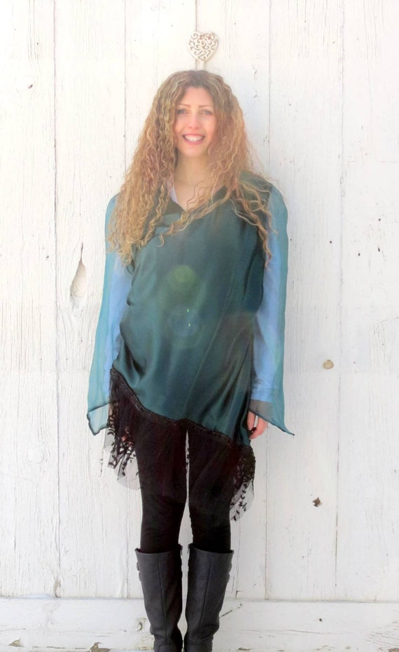 Womens Emerald Green Blouse 96