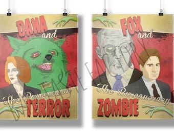 X-Files Double Feature Fine Art Print Bundle