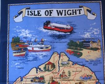 Vintage Tea Towel England Isle of Wight Souvenir Towel Gift Never Used