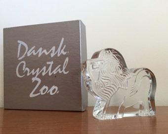 Vintage Dansk Crystal Zoo Lion