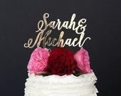 Wedding Cake Topper, Custom Cake Topper, Gold Wedding Cake Topper, Personalized Cake Topper