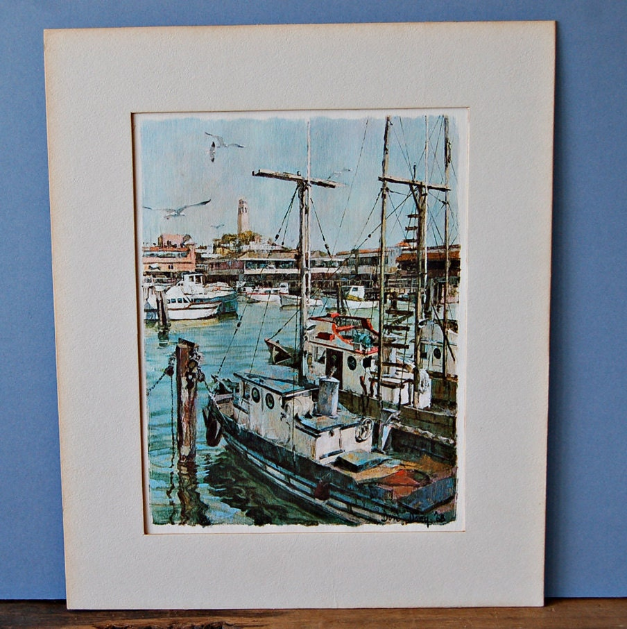 Don davey art print fisherman 39 s wharf san francisco by for Fishing store san francisco