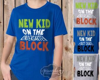 New Kid on the Block- Boy's School Shirt