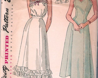 """Vintage 1948 Simplicity 2643 Slip, Petticoat & Camisole Sewing Pattern Size 16 Bust 34"""""""