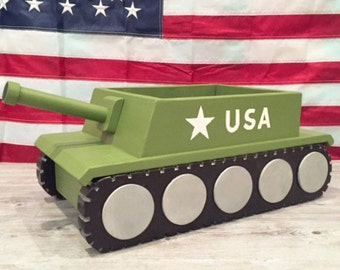 Wooden Tank Photography Prop