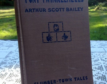Antique Children's Book Tale Of Pony Twinkleheels by Arthur Scott Bailey Rare 1921 Chapter Book 4 Color Plates by Harry L. Smith Collectible