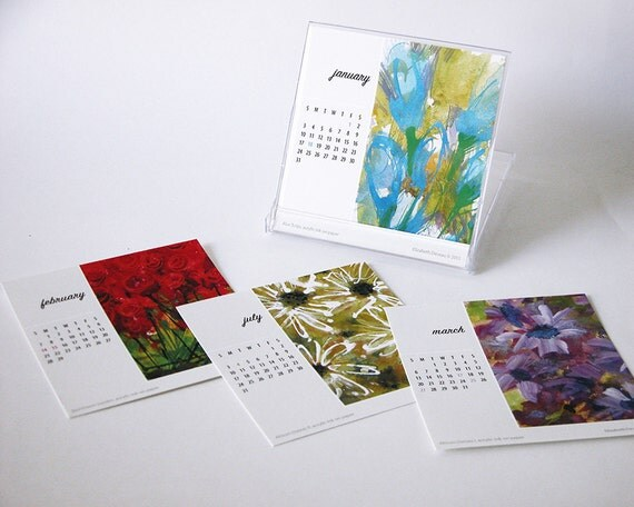 2016 Mini Desk Calendar With Stand Colorful By