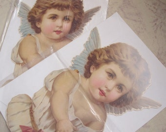 Cherub ANGEL Paper Standup Card, Greeting Card, Correspondence Note, Home Decor by Winslow Papers, NJ 1980's PaperGoods English German Style