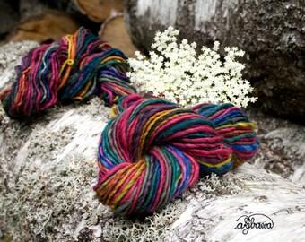 Singlet handdyed, handspun merino wool