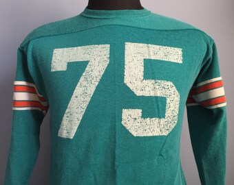 70s 80s Vintage Doug Betters #75 Miami Dolphins Jersey T-Shirt - XL X-LARGE