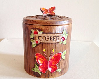 Vintage 1960s Treasure Craft Coffee Cannister