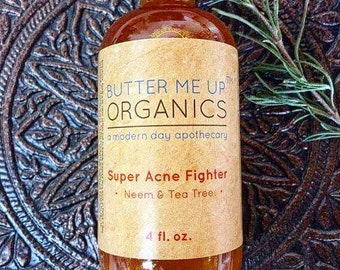 Super Acne Fighter / Organic Acne Treatment / Acne / Essential Oils / Natural  Acne Treatment / Acne Scars / Hormonal Acne / Cystic Acne