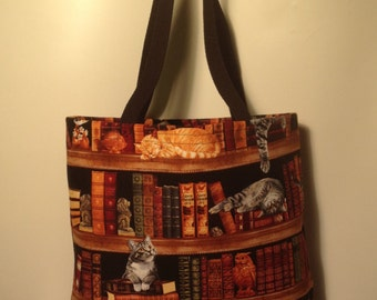 Cats in the Library Tote Bag