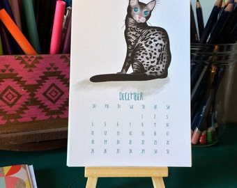2016 Kitty Desk Calendar