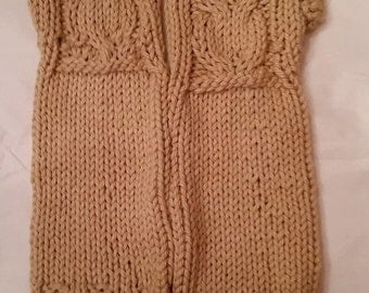 Owl Fingerless Mittens- Long Length - Adult size - Can be customized