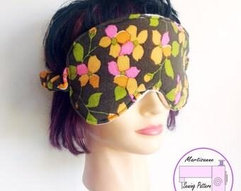 Eye mask pattern, easy sewing project, spa mask pdf, beginner sewing pattern, sleep mask pattern, diy gift idea, pdf pattern