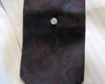 Rhinestone Tuxedo Stud Tie Tack or Lapel Pin - Groom or Groomsmen Tie Tack Gift - Wedding Accessory