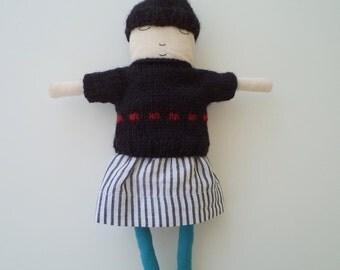 mirtledoll wearing black jumper