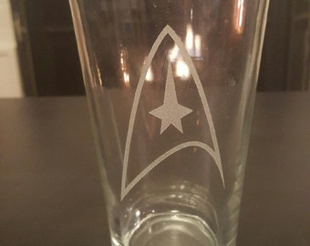 Star Trek Pint Glass--Made to order