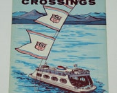 Vintage 1962 Lake Champlain Ferry Crossings Schedules Travel Brochure