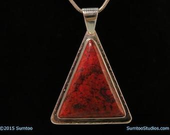 Cuprite in Argentium Sterling Silver