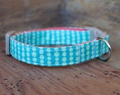 Dog Collar - Two-Toned Turquoise Bubble Dot