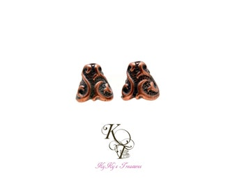 Bead Cones Copper Findings Cones Tierracast Pewter Cones Copper Jewelry Findings Jewelry Supplies Jewelry Findings