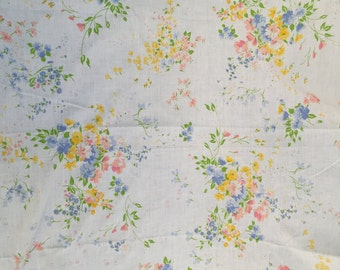 60's Cannon Monticello Foral King Size Flat Sheet