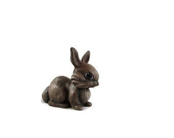Adorable Small Sized Ceramic Bunny for the Garden - 4.5 inches - hand painted Easter or Garden Bunny, indoor or outdoor, lawn or garden