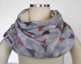 100% Organic Cotton (Orange Block Print) SCABIB scarf/bib for children