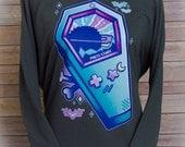 Dead Format Pastel Gaming 3/4 Sleeve Wide Neck Sweatshirt