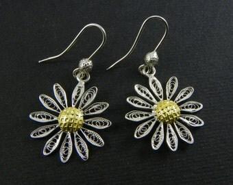 Earrings Margaret Silver filigree