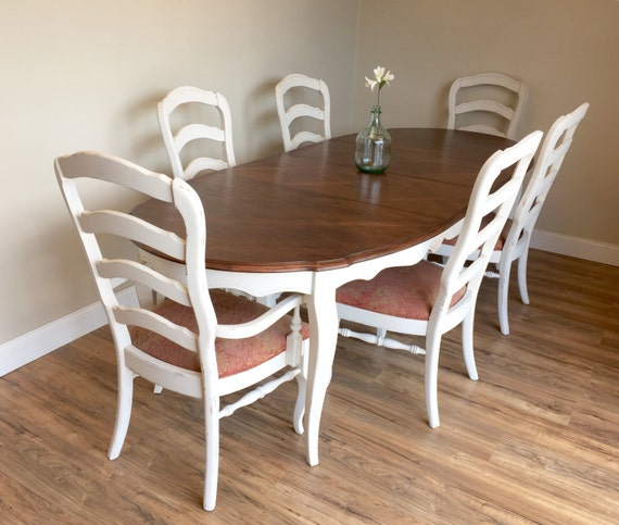 French Dining Room Set: White Dining Set French Provincial Dining Room Set Shabby