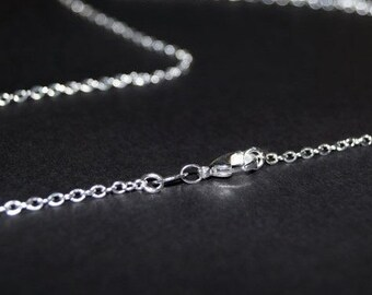 Sterling Silver Chain - 32 inch necklace - Solid Sterling Silver Necklace  - You Select Size - 32 34 36 38 40 42 44 46 50 60 inch -