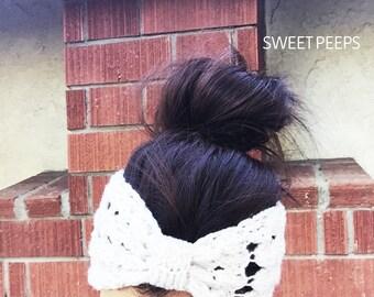 Turban Knitted Pattern Headband, Knit Headband, Knit Beanie, Turban, Cute Turban Headband, Winter Gifts, Gifts, Holiday Accessories