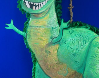 2D Pinata Inspired By Rex From Toy Story | Toy Story Party Theme | Dinosaur Theme | Dinosaur Pinatas