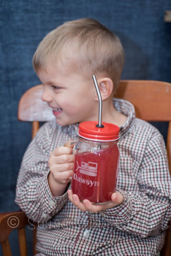 16oz Mason Jar Custom Etched To Go Glass Eco Friendly Sippy Cup