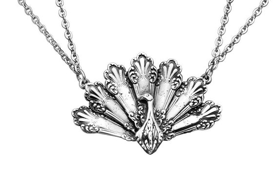 """Spoon Necklace: """"Peacock"""" by Silver Spoon Jewelry"""