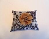 Pin Cushion , Grey Animal Print Pincushion , Sewing Notion