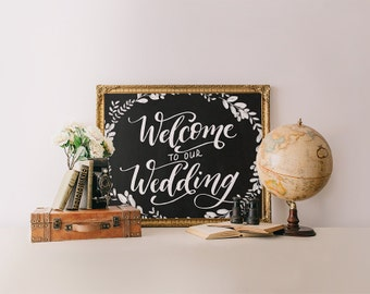 Welcome sign, wedding welcome chalkboard sign printable wedding printable, wedding signs, welcome print, wedding sign, Printable Wisdom