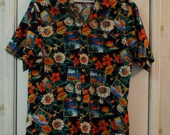 Hawaiian Mens Size Medium Cotton Short Sleeve Shirt