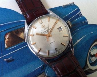 Vintage Men's Watch - Lanco Langendorf Watch - SUPER DE LUXE Model with 17 Jewels Swiss Made Movement. Calendar. Vintage Mechanical Watch