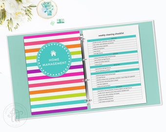 Digital Household Management Binder Kit - Home Management Binder - Over 50 Organizing Printables - INSTANT DOWNLOAD