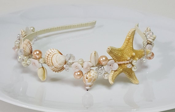 Starfish tiara wedding