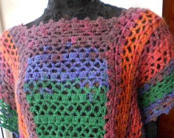 Crochet Tunic Top Tank Vest Plus Size  FREE SHIPPING