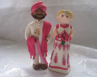 Polymer Clay Fimo Wedding Cake Toppers Completely Personalised Made To Order